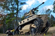 """From its first vehicle, the now famous """"Ripsaw,"""" Howe and Howe Technologies not only caught the eye of the Defense industry, it forced them to change course entirely. By creating the first full. Military Robot, Military Guns, Army Vehicles, Armored Vehicles, Indoor Shooting Range, Drones, Once A Marine, Future Weapons, Robot Design"""