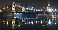 Wrocław nocą.