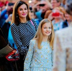 Queen Letizia of Spain and Princess Leonor Easter 2018