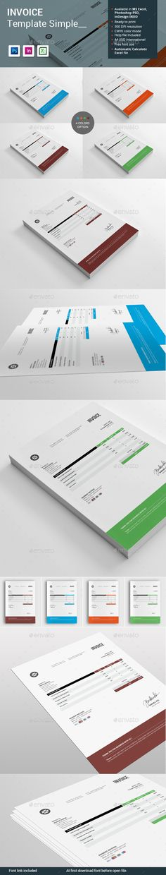 Invoice Bundle - 2in1 - Proposals  Invoices Stationery Print