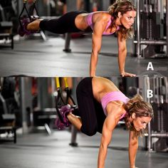 We asked the country's top trainers share their favorite TRX moves that'll challenge your fitness and strengthen your entire body. Check out the fat-blasting, body-firming workout for yourself here! Fitness Motivation, Fitness Tips, Fitness Workouts, Trx Workouts For Women, Fitness Weightloss, Health Fitness, Pole Fitness, Physical Fitness, Ufc