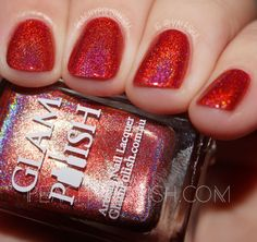 Glam Polish Hibiscus Hideaway | No Lei-Overs! Collection | Peachy Polish