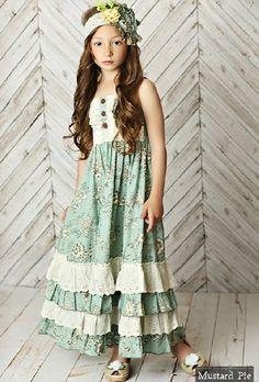 Mustard Pie Spring 2016 Shangri La Blue Jade Maxi Dress – Little Luna Blue Little Girl Outfits, Little Girl Fashion, Kids Outfits, Kids Fashion, Girls Boutique Dresses, Baby Girl Dresses, Baby Dress, Ruffle Dress, Little Girls Easter Dresses