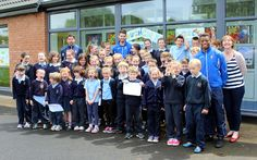 Community: Limerick FC manager Stuart Taylor and players Stephen Folan and Patrick Nzuzi visited local schools on Tuesday afternoon to promote two upcoming events.