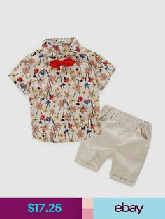 cceaf6b9b15e Bear Leader 2016 Boys Clothing Sets New Summer Style Children Clothing Sets  Flowers Print Red Tie T-Shirt+Beige Pants 2 pcs