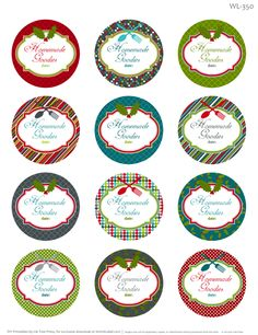 free Christmas labels for all your homemade goodies, part of a collection.