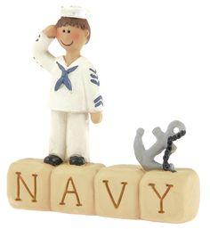 Navy Block with Boy  $6.99