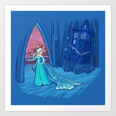 Frozen in Time and Space Art Print by Karen Hallion Illustrations - $16.99