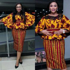 Unique Ankara Skirt and Blouse Styles Ankara Styles and Aso Ebi Styles 2020 Latest African Fashion Dresses, African Print Dresses, African Print Fashion, African Dress, African Attire, African Wear, African Women, African Style, Ankara Skirt And Blouse