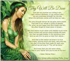 Thy Will Be Done - Helen Steiner Rice
