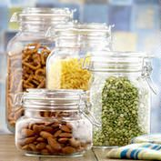 Jars for Pantrys @Cost Plus World Market.com Round Glass Jars with Clamp Lid