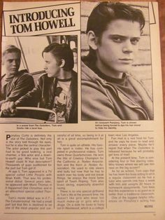 C. Thomas Howell, Tommy, Full Page Vintage Clipping