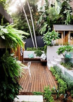 tropical garden Small garden inspiration - Homes, Bathroom, Kitchen amp;