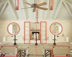 Equilíbrio e simetria na decoração