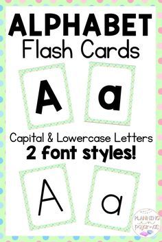 Alphabet Flash Cards PERFECT for letter recognition, in a polka dot theme! Simple, easy to read fonts, with 2 options included - a more bold look, and a more narrow font. Uppercase and Lowercase included. Kindergarten Flash Cards, Kindergarten Learning, Letter Flashcards, Alphabet Cards, Letter Activities, Reading Activities, Classroom Posters, Classroom Decor, Word Wall Headers