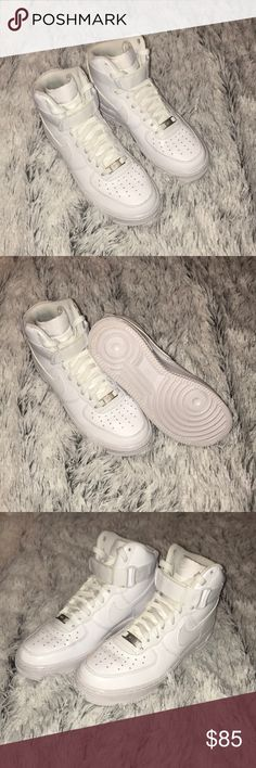 check out 5fa04 ae529 NIKE AIR FORCE 1 HIGH  07 EUC EUC Color  White Size  Men s 6.5
