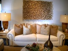 want that piece of art/wood above couch!
