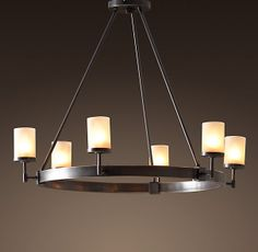 Sloane 6-Arm Chandelier by Restoration Hardware - FIRST OPTION for center chandelier