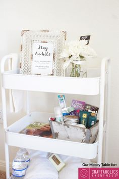 easy hospitality cart // guest ideas