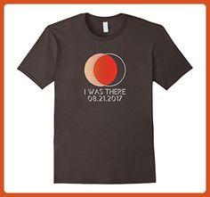 Mens RETRO Total Solar Eclipse 2017 I Was There T-Shirt Large Asphalt - Retro shirts (*Partner-Link)