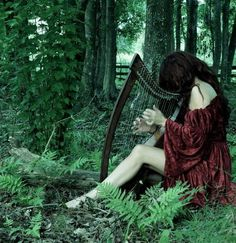 The arpha player in the green woods... Elfish sounds in the enchanted forest.