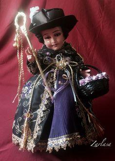 Niño Dios / Niño Jesús: Santo Niño de Atocha. Colección personal. Yeso. 40 cm.