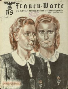 vintage everyday: Nazi Magazine for Women: NS-Frauen-Warte Covers from 1941-1945
