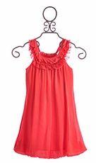 Plum Dress Coral with Bubble Hem
