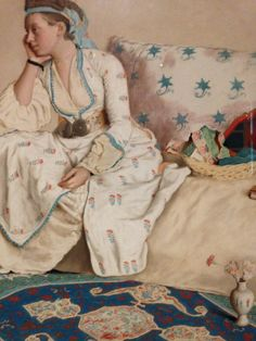 Detail > Portrait of the Artist's Wife, Marie Fargues, in Turkish Dress (1756-58), Jean Etienne Liotard