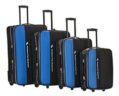 Luggage Sets Collections | Rockland Luggage Polo Explorer 4 Piece Luggage Set Navy One Size ** Continue to the product at the image link.(It is Amazon affiliate link) #follow4follow