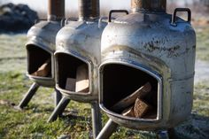 Gas Bottle Bbq, Gas Bottle Wood Burner, Outdoor Fireplace Designs, Backyard Fireplace, Fireplace Ideas, Diy Fire Pit, Fire Pit Backyard, Rocket Stove Design, Diy Wood Stove
