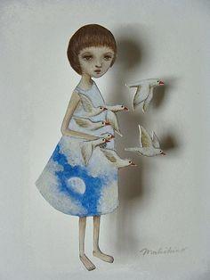 Muñecas de papel... Maki Hino