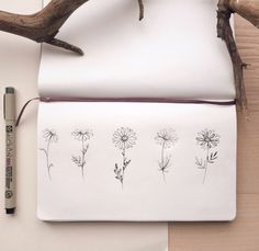 Chamomile tattoo sketches by - tattoo tree . - Minimalistisches Tattoo - Informations About Chamomile tattoo sketches by - tattoo t Small Daisy Tattoo, Daisy Flower Tattoos, Sunflower Tattoos, Daisies Tattoo, Daisy Tattoo Designs, Floral Tattoo Design, Tattoo Designs For Women, Trendy Tattoos, Cute Tattoos