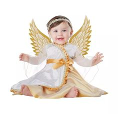 Disfraz de ngel para nia disfraz Pinterest Costumes
