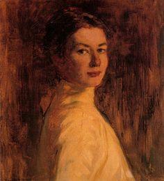 Violet Teague: 'Self-Portrait', 1899 Wonderful