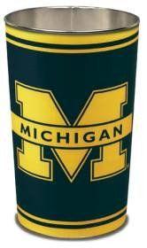 """Michigan Wolverines 15"""" Waste Basket"""