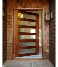 Pivot Door Company: Online Shopping for Semi-Custom Pivot Entry Doors Contemporary Front Doors, Modern Entry, Double Vitrage, Pivot Doors, Front Door Design, Entrance Doors, Doorway, Barn Doors, Exterior Doors