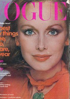 Karen Graham, photo by Francesco Scavullo, Vogue US, December 1975*