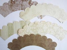 Vintage Shades of Ivory Cupcake Wrappers by outsidetheboxdessert, $12.00