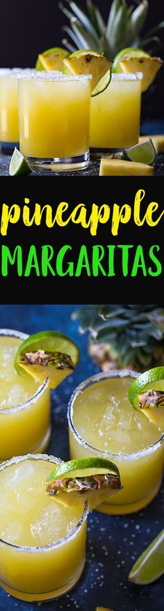 Pineapple Margarita - A sweet, tart and delicious margarita that is incredibly EASY to make!