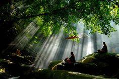 Thai Monks Meditating
