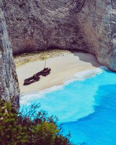Flavia Balan Travel Story (@flaviamariejeane) • Navagio Shipwreck View, Greece, Zakynthos Shades Of Blue, Greece, In This Moment, Explore, Adventure, Places, Water, Photos, Travel