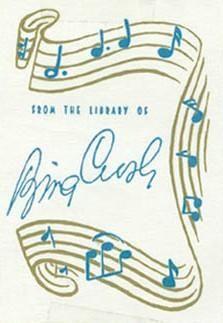 ex libris famosos . Bing Crosby