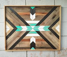 Love how this custom sized version of a previous design turned out! Reclaimed Wood Wall Art, Rustic Wall Art, Wood Wall Decor, Wooden Wall Art, Diy Wood Projects, Wood Crafts, Woodworking Projects, Decoration, Art Decor