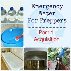 """Answers to your questions in """"Emergency Water for Preppers Part 1: Acquisition"""".  via www.BackdoorSurvival.com"""
