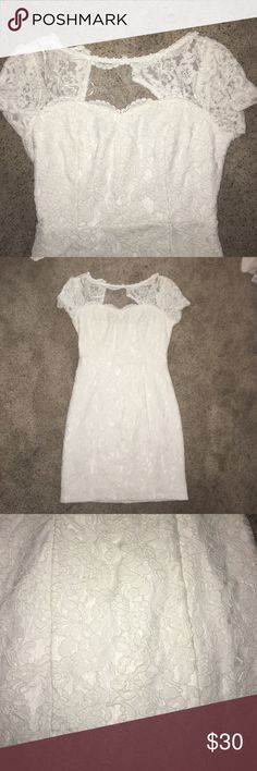 💍 NWT Nikibiki Dress 💍 This darling white dress is perfect for a bride to be or anyone looking for a fun semiformal dress! The neckline makes for a cute, modern look. Unfortunately, it's a little too small for me. Make me an offer 😘 Nikibiki Dresses Mini