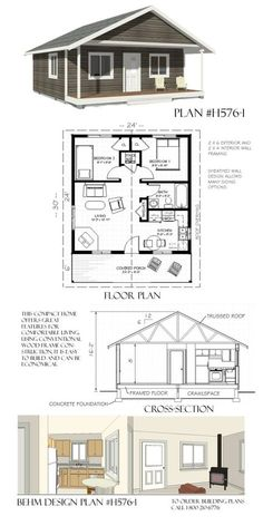 H576-1 Lakeside Cottage 24 x 30 - Behm Garage PlansBehm Garage Plans