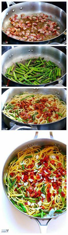 5 Ingredient Bacon Asparagus Pasta