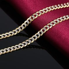 bb213073410d0 24K Pure Gold Necklace Real AU 999 Solid Gold Chain Good Gifts Man's ...