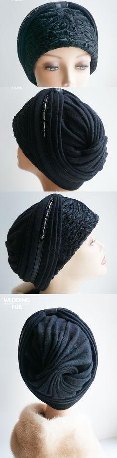 Комбинированная шапка из каракуля и трикотажа  http://weddingfur.ru/goods/Kupit-shapku